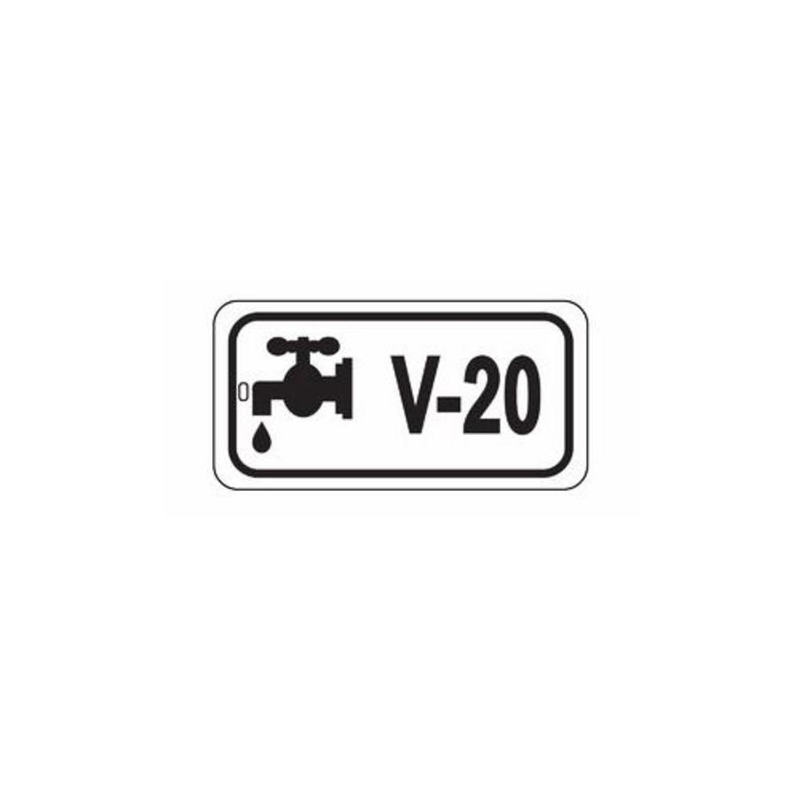 Identification tags valves