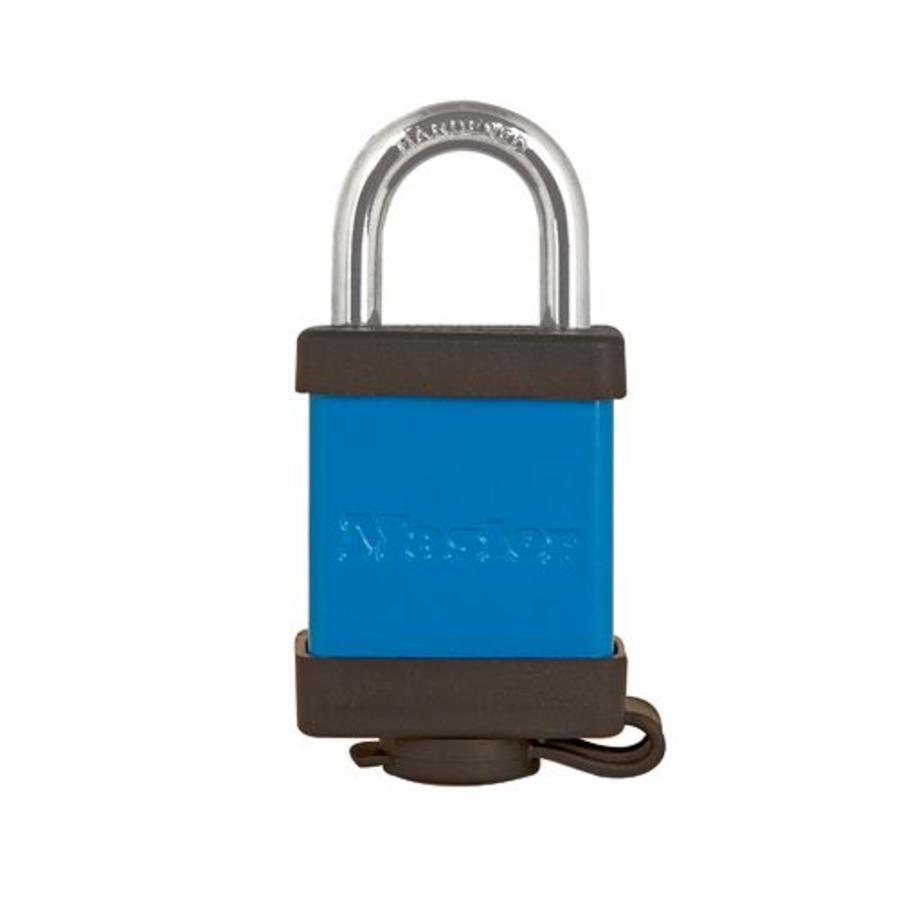 Aluminium hangslot blauw 6835BLU
