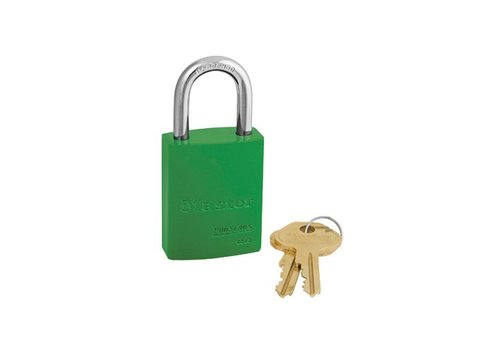 Aluminium padlock green 6835GRN