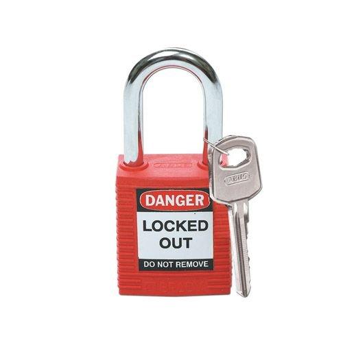 Nylon veiligheidshangslot rood 051339
