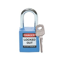 Nylon safety padlock blue 051344