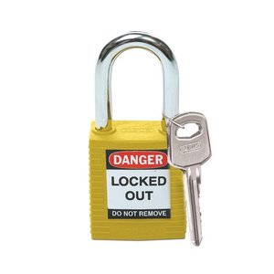 Brady Nylon veiligheidshangslot geel 051346