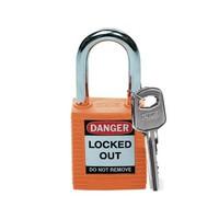 Nylon safety padlock orange 051347
