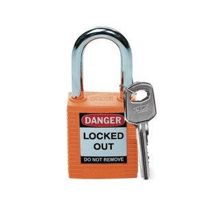 Brady Nylon Sicherheits-vorhängeschloss orange 051347