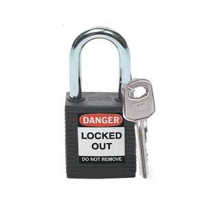 Brady Nylon Sicherheits-vorhängeschloss schwarz 051353