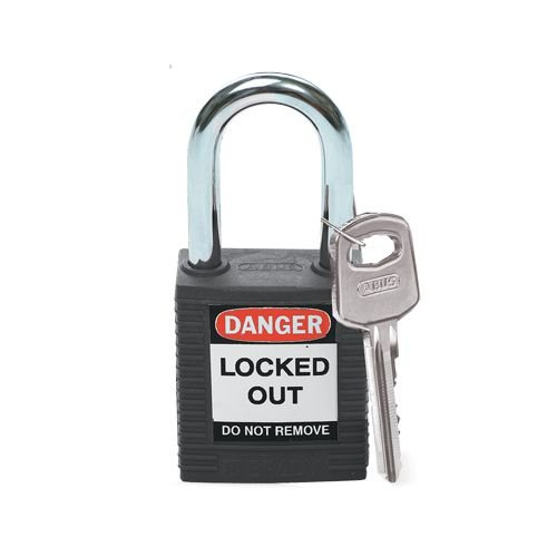 Nylon Sicherheits-vorhängeschloss schwarz 051353