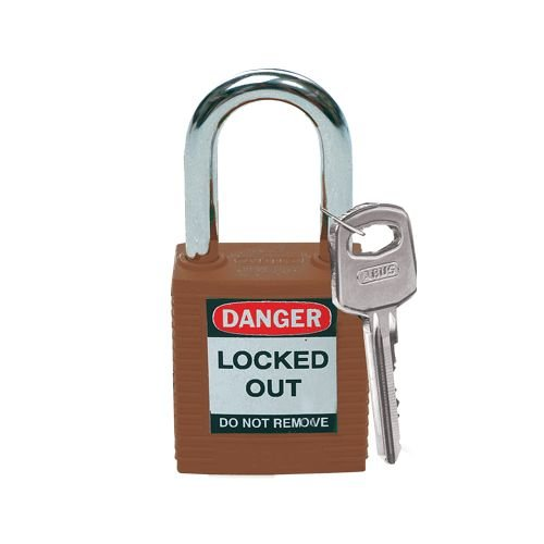 Nylon safety padlock brown 813636
