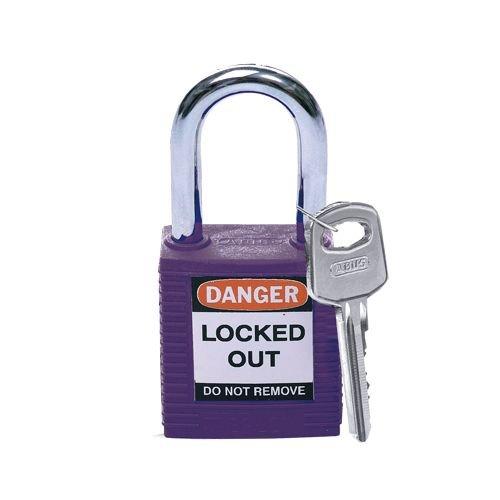 Nylon veiligheidshangslot paars 813637