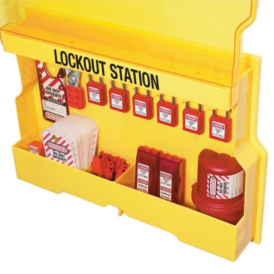 master lock lock out station s1850v410 lockout tagout shop. Black Bedroom Furniture Sets. Home Design Ideas