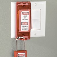 Wall switch lock-out 496B
