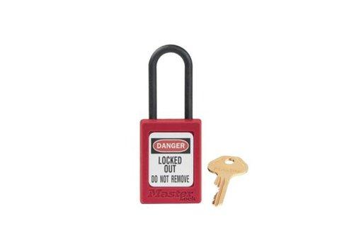 Zenex veiligheidshangslot rood S32RED