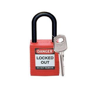 Brady Nylon veiligheidshangslot rood 813594