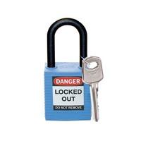 Nylon Sicherheits-vorhängeschloss blau 813593