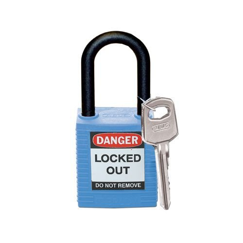 Nylon safety padlock blue 813593