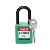 Nylon Sicherheits-vorhängeschloss grün 813597