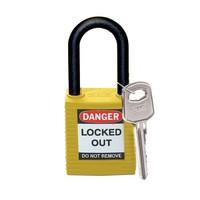 Nylon safety padlock yellow 813596