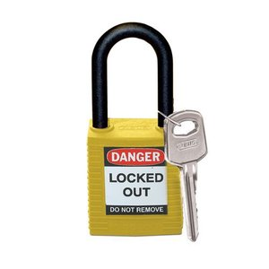 Brady Nylon safety padlock yellow 813596
