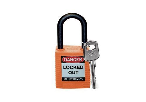 Nylon veiligheidshangslot oranje 813598
