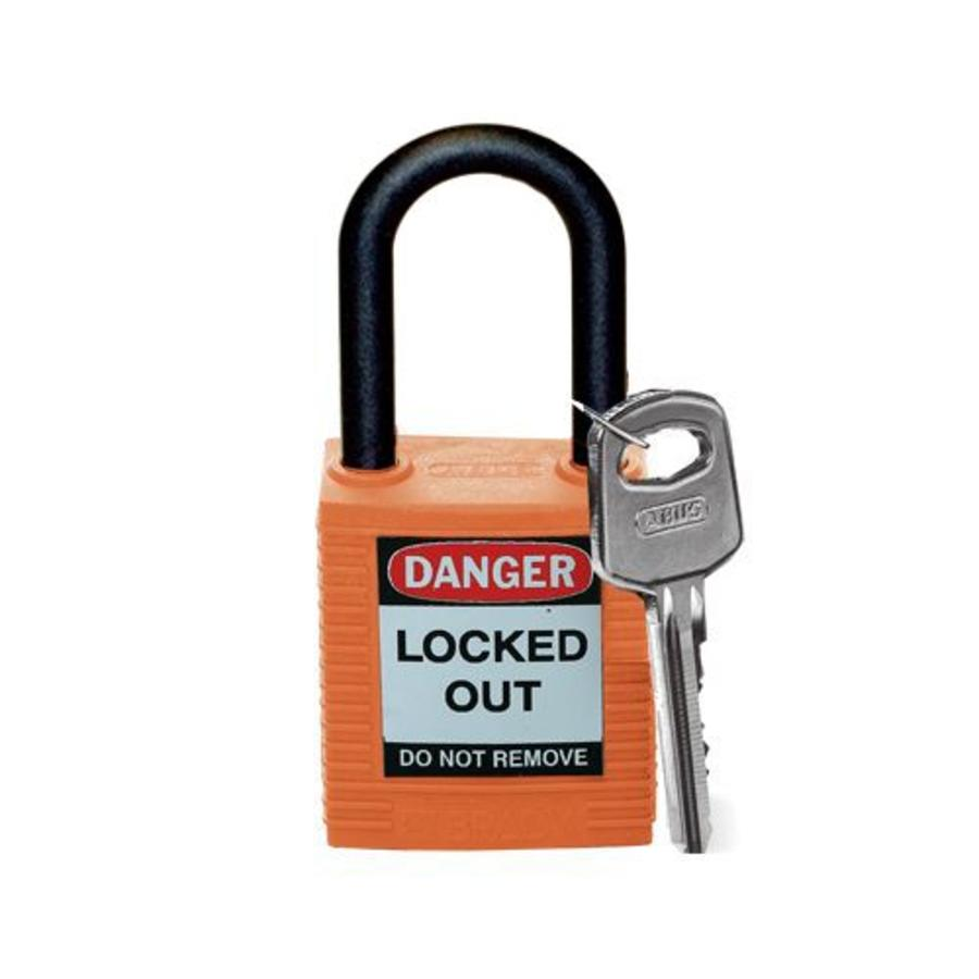 Nylon safety padlock orange 813598