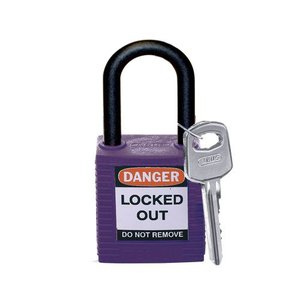 Brady Nylon safety padlock purple 813640