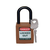 Nylon safety padlock brown 813639