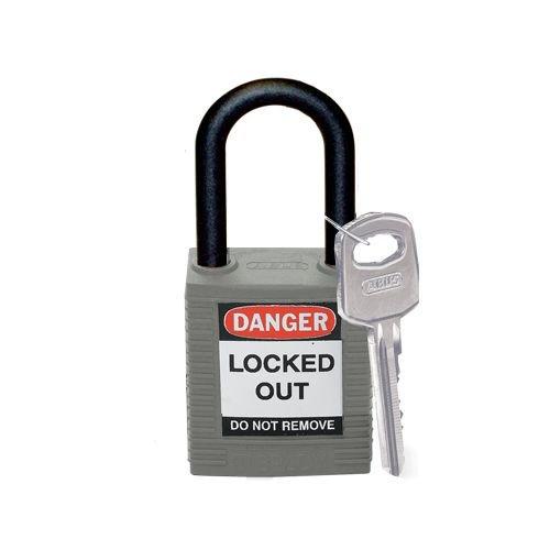 Nylon Sicherheits-vorhängeschloss grau 814154