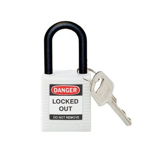 Brady Nylon safety padlock white 813641