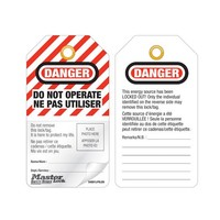 Laminated lock-out tags with photo-ID (12 psc) S4800