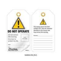 Gelamineerde lockout-tags met foto-ID (12 stuks) S4800