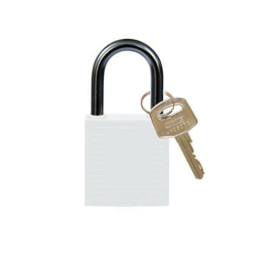 Nylon Kompakte Sicherheits-vorhängeschloss weiß 814122