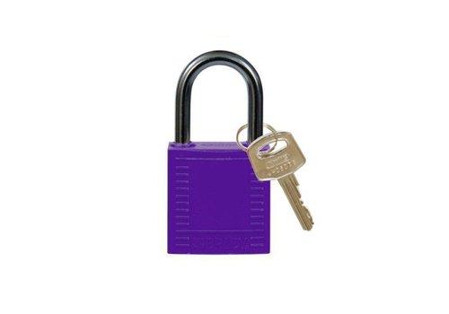 Nylon compact safety padlock purple 814121