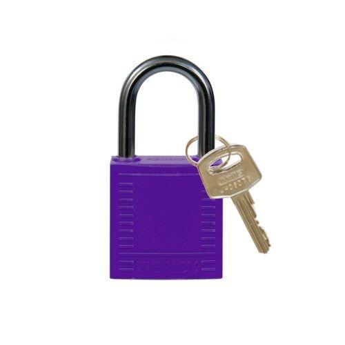 Nylon compact veiligheidshangslot paars 814121
