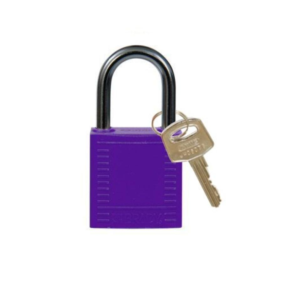 Nylon compact safety padlock purple 814121