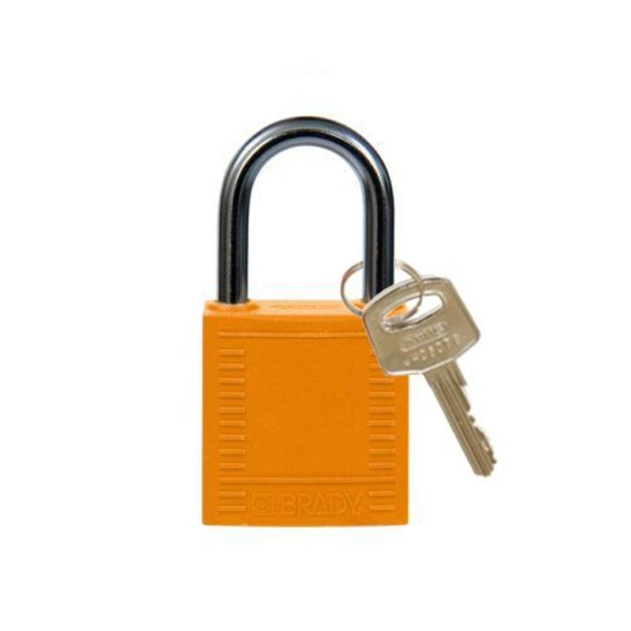 Nylon compact safety padlock orange 814119