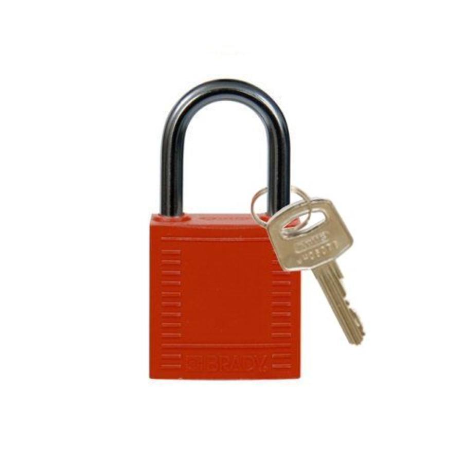Nylon compact veiligheidshangslot rood 814116
