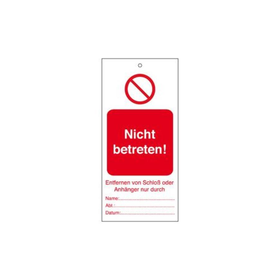 Anhänger für Warnhinweise Deutsch