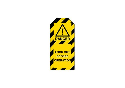 Warning tags danger English
