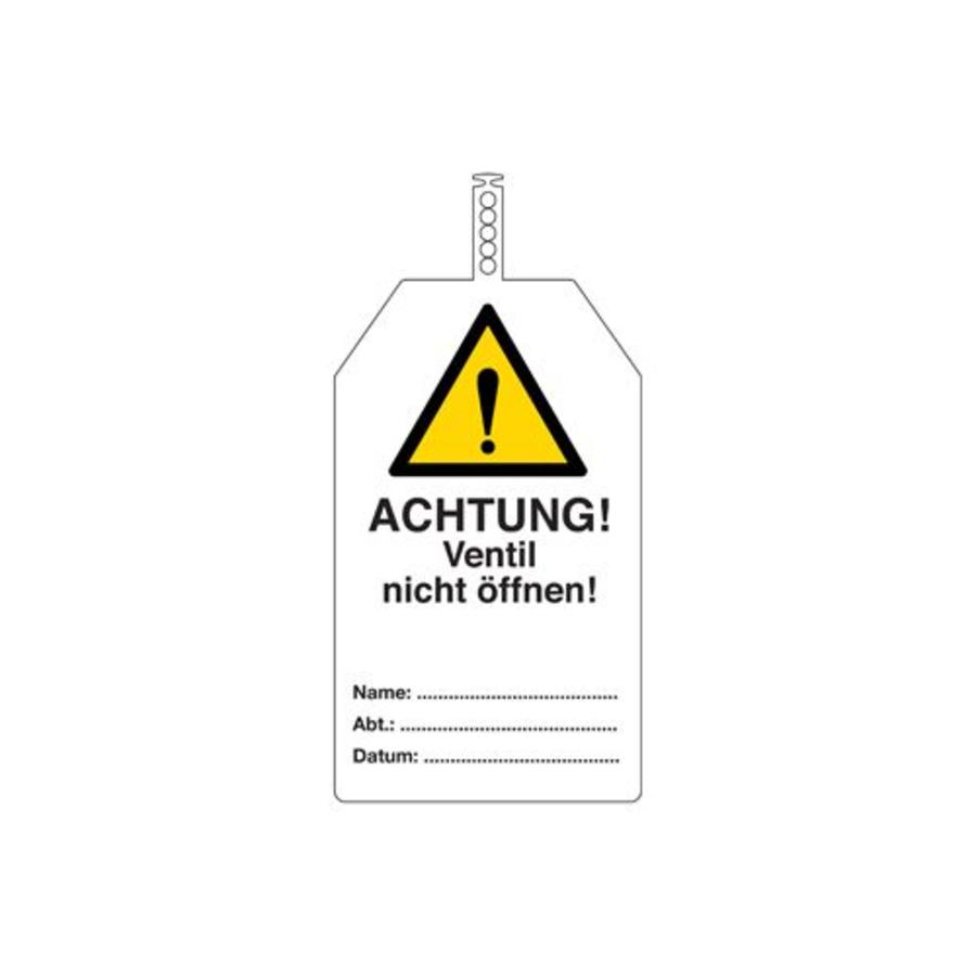 Safety tags German