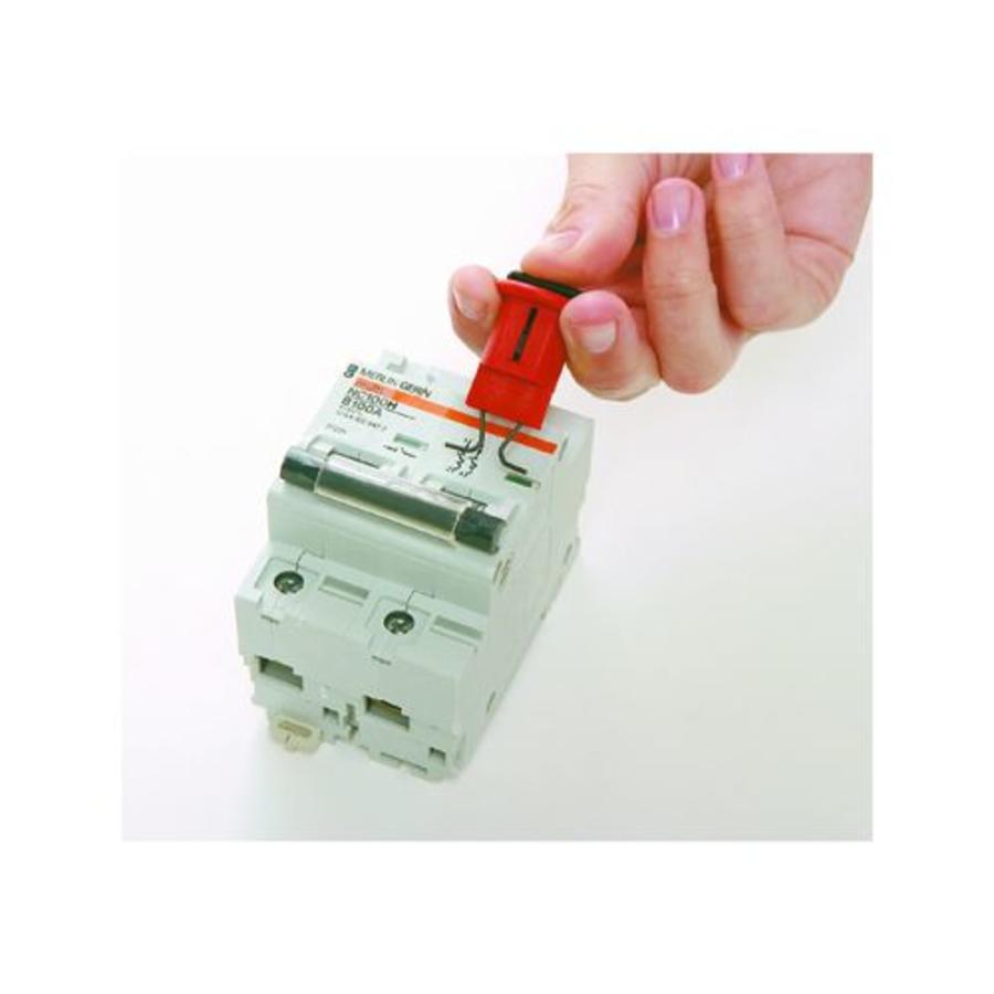 Miniatur-Verriegelungssysteem für Schutzschalter (Pin-Out Wide) 090850-090851