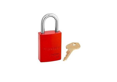Sicherheitsvorhängeschloss aus Aluminium rot S6835RED