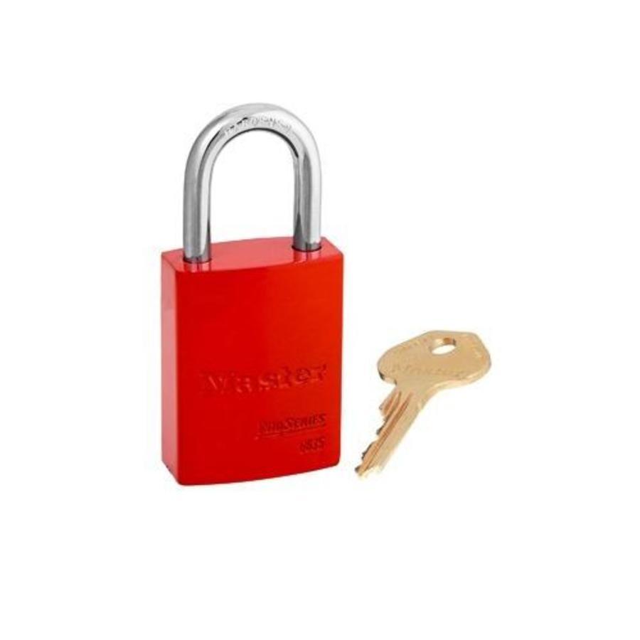 Aluminium veiligheidshangslot rood S6835RED