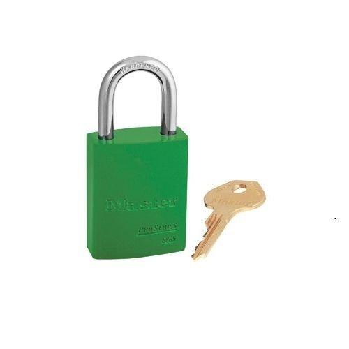 Aluminium veiligheidshangslot groen S6835GRN
