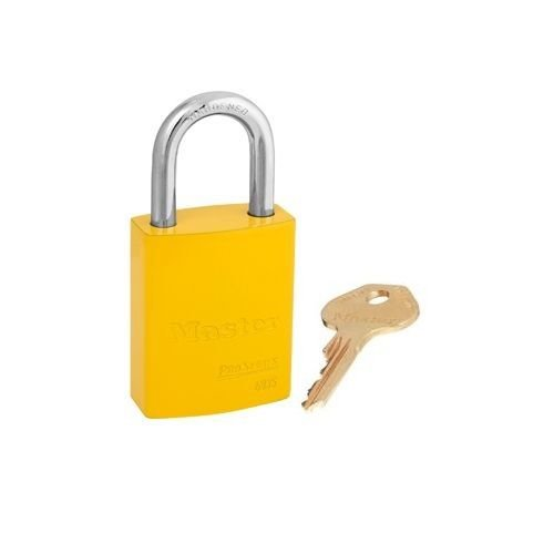 Aluminium veiligheidshangslot geel S6835YLW