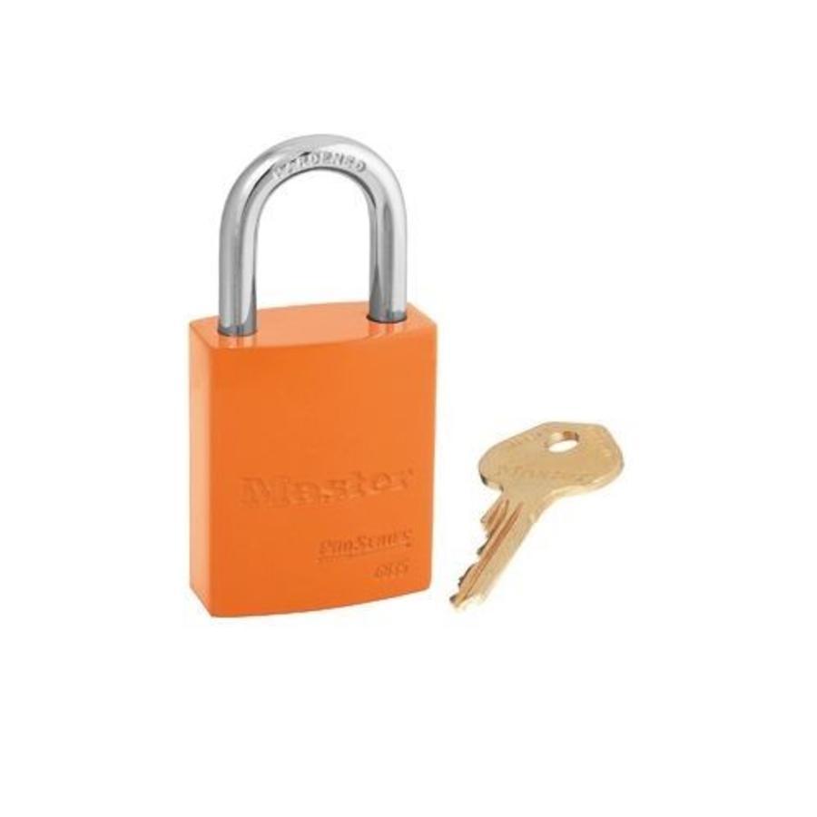 Sicherheitsvorhängeschloss aus Aluminium orange S6835ORJ