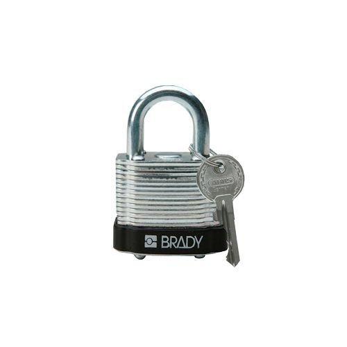 Gelamineerd stalen veiligheidshangslot zwart 814087