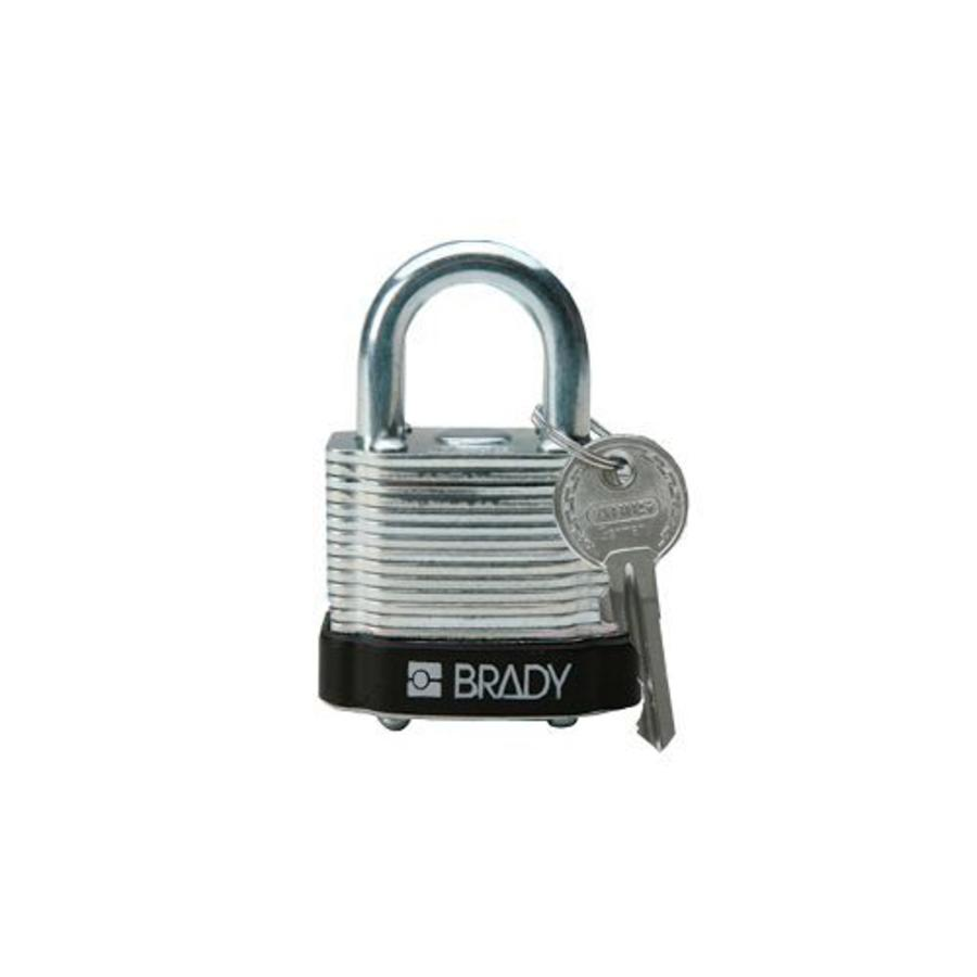 Laminated steel safety padlock black 8140087