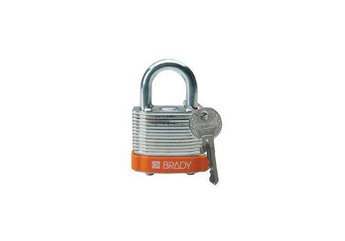 Gelamineerd stalen veiligheidshangslot oranje 814091