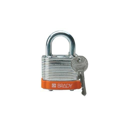Sicherheits-vorhängeschloss Stahl orange 814091