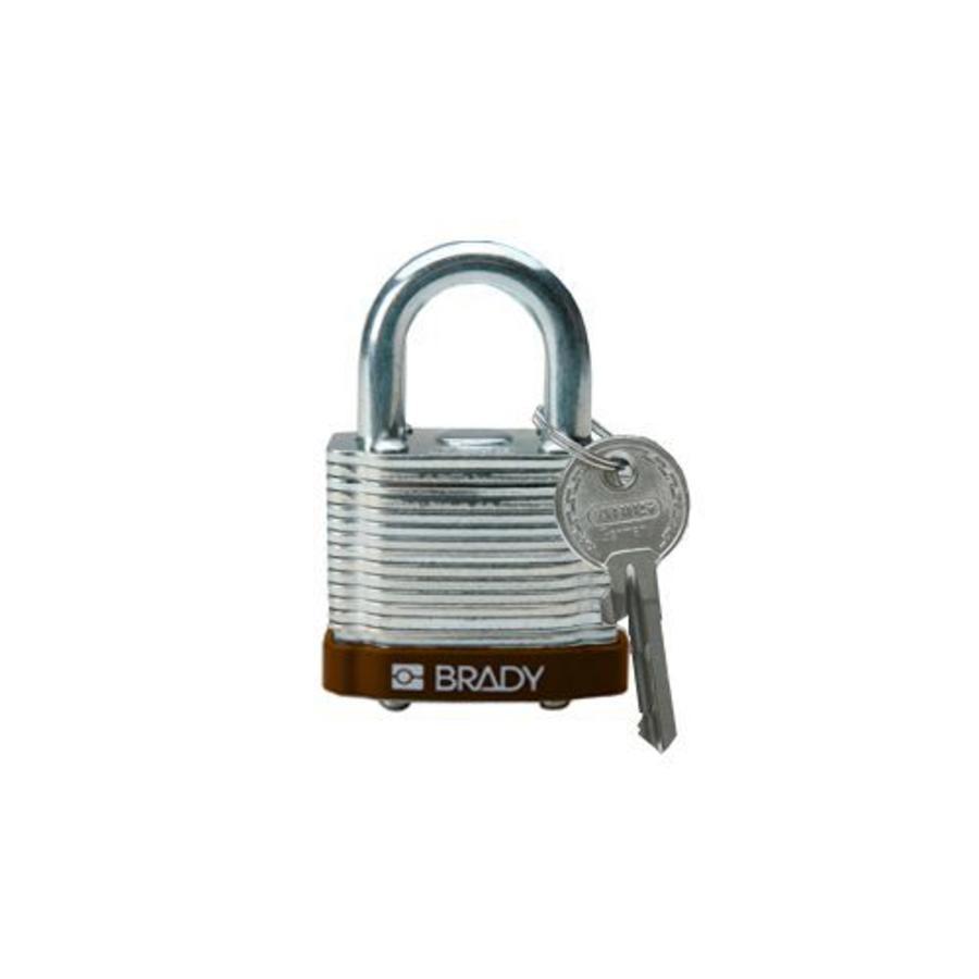 Laminated steel safety padlock brown 814092