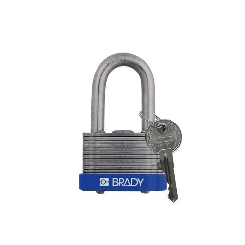Laminated steel safety padlock blue 814095